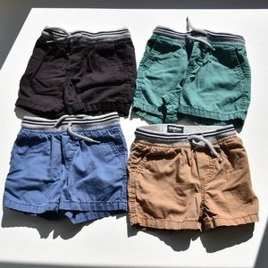 4 Pack Osh Kosh Baby Boys Canvas Shorts